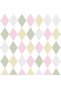 Papel De Parede Lyam Decor Losango Perola Multicolorido