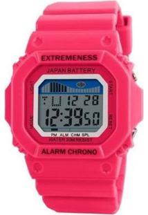 Relógio Feminino Skmei Digital Feminino - Feminino-Pink
