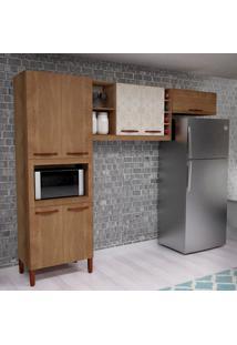 Cozinha Compacta Malu 7 Pt Amêndoa E Porto