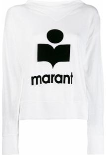 Isabel Marant Étoile Blusa De Moletom Com Logo - Branco