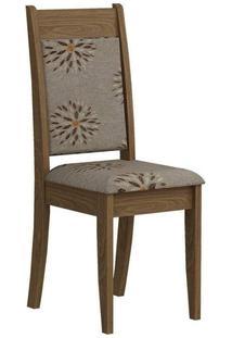 Cadeira Cimol Larissa Madeirado (2 Unidades) Savana/Café