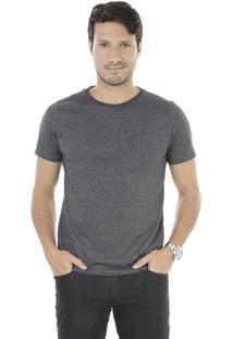 Camiseta Com Bolso Cinza Mescla