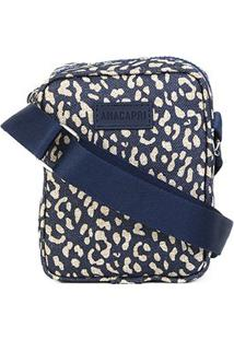 Bolsa Anacapri Pqn Mini Bag Lona Animal Print Onça Mini Feminina - Feminino-Jeans
