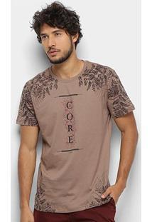 Camiseta Gajang Core Masculina - Masculino-Areia