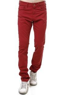 Calça Sarja Masculina Vermelho - Masculino