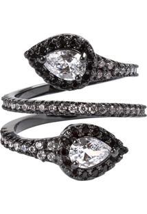 2edf6e22eb9 ... Anel Snake The Ring Boutique Cravejado De Zircônias Em Ródio Negro