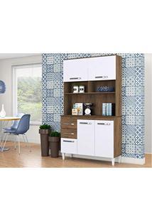 e9ecfc9400d Cozinha Compacta Aline 4 Pt 3 Gv Dakota E Branco