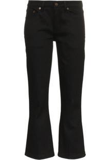 Saint Laurent Calça Jeans Skinny Cropped - Preto