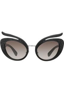 f19c8c3a8a76f Farfetch. Óculos De Sol Feminino Cinza De Sol Nylon  Folie  Miu - Eyewear  ...