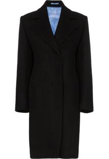 Mugler Tailored Mid Length Coat - Preto