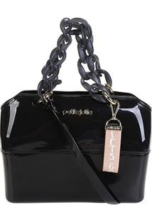 Bolsa Petite Jolie Tote Zip Bag Feminina - Feminino-Preto