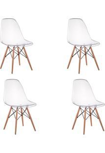 Cadeira Impã©Rio Brazil Eiffel Wood - Policarbonato Transparente - Incolor - Dafiti