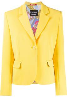 Boutique Moschino Blazer Com Abotoamento Simples - Amarelo
