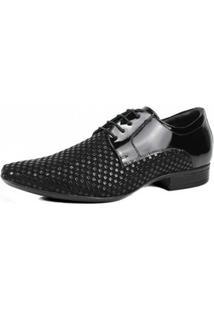 Sapato Jota Pe Verniz Texturizado - Masculino