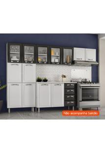 Cozinha Compacta Premium I 11 Pt Branca E Preta