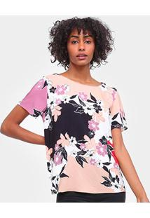 Blusa Lez A Lez Tecido Rayon Bali Floral Feminina - Feminino-Floral