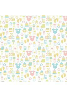 Papel De Parede Quartinhos Infantil Texturizado Baby 2,70X0,57M