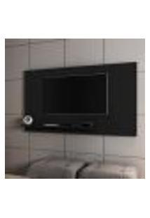 Painel Para Tv Harare Invertido Preto Fosco
