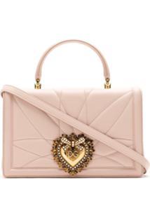 Dolce & Gabbana Bolsa De Couro Matelassê - Rosa