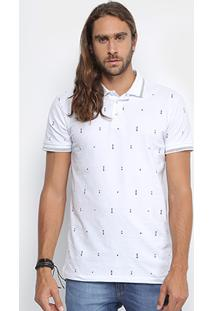 Camisa Polo Colcci Piquet Mini Print Masculina - Masculino
