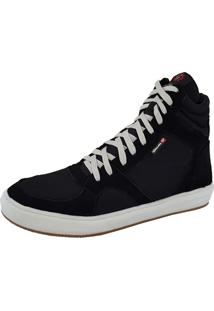 Sapatênis Galway Casual Em Couro Sneakers Preto