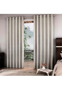 Cortina Blackout Barroco 7034 250X400 Cm Prata