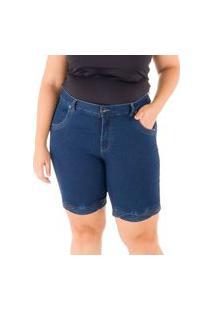 Bermuda Special Jeans Black/Blue Barra Diferenciada Loony Jeans