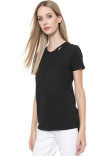 Camiseta Calvin Klein Jeans Recorte Preto