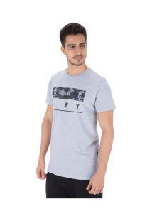 Camiseta Oakley Neo Stack - Masculina - Cinza
