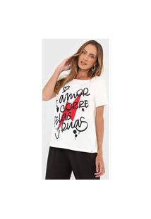 Camiseta Cantão Lettering Off-White
