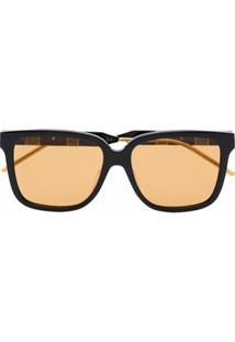 Gucci Eyewear Óculos De Sol Quadrado De Acetato - Marrom