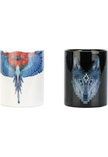 Marcelo Burlon County Of Milan Wolf And Parrot Candles - Preto