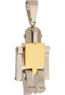 Pingente Robô Tudo Jóias De Aço Inox Modelo Dourado