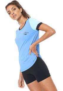 Camiseta Alto Giro Skin Fit Silk 10 Azul