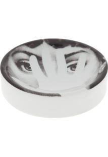 Fornasetti Cinzeiro Estampado - Branco