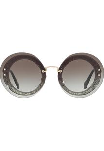 Sunglass Hut. Óculos De Sol Feminino Cinza Mu Reveal Miu 10rs 611490eb5f