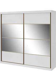 Guarda-Roupa Da Vinci New - 2 Portas - Branco - Com Espelho