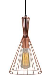 Pendente Aramado Cobre Com Lâmpada Filamento De Carbono St64 127V Sl2493 Toplux - Kanui