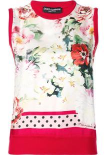 Dolce & Gabbana Blusa Com Estampa Floral - Vermelho