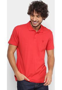 Camisa Polo Coca-Cola Masculina - Masculino-Vermelho