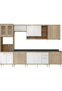 Cozinha Compacta Multimóveis Sicília 5835.132.815.131.610 Argila Branco Se