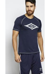 Camiseta Twr Fractured- Azul Marinho & Cinza Claro- Umbro