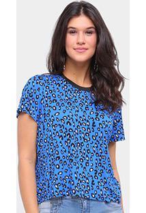 Camiseta Sommerr Estampada Feminina - Feminino-Azul