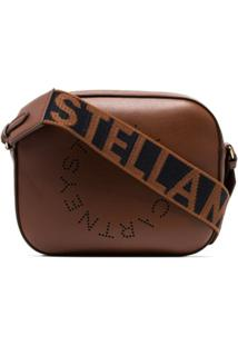 Stella Mccartney Bolsa Transversal Com Logo - Brown