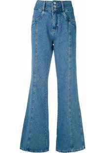 Nk Calça Jeans Flare Gwyn - Azul
