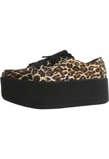 Tênis Damannu Shoes Flatform Jessie Feminino - Feminino-Preto