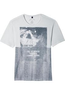 Camiseta John John Rx Broken Thoughts Malha Off White Masculina (Off White, Gg)