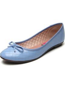 Sapatilha Moleca Laã§O Azul - Azul - Feminino - Dafiti