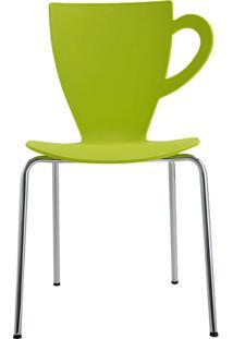Cadeira Ct Em Plástico Pp E Aço Verde - Orb
