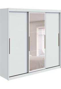 Guarda-Roupa Casal Com Espelho Taurus 3 Pt 6 Gv Branco